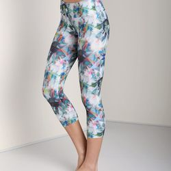 """Our pick: Throw on a sweater and some sneakers for those days you're feeling all printspirational. <b>Onzie</b> capri pant in diamond magic, $55 at <a href=""""http://www.largodrive.com/onzie-capri-pant-diamond-magic,79467.html"""">Largo Drive</a>"""