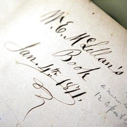 Detail of the journal of early apostle William E. McLellin.