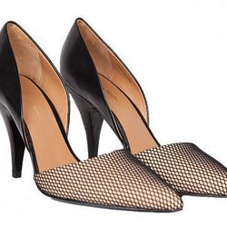 """3.1 Phillip Lim Diamond <a href=""""http://www.shoplesnouvelles.com/shop/shoes/3-1-phillip-lim-francis-diamond-dorsay-pump.html"""">D'orsay pump</a>: """"I'm obsessed with the two-toned color and the texture of the diamond patterned mesh toe."""""""