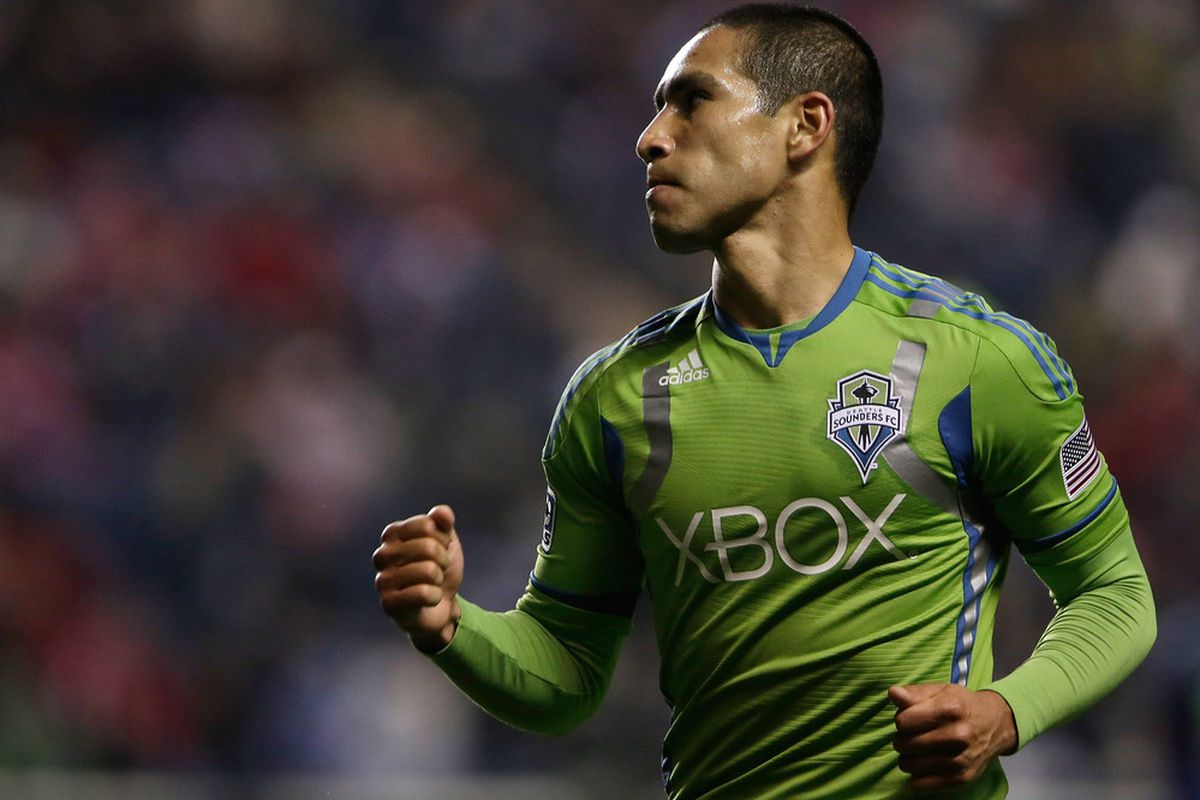 In the end David Estrada wasn't credited with the goal, but without him it never would have happened. (Photo by John Gress/Getty Images)