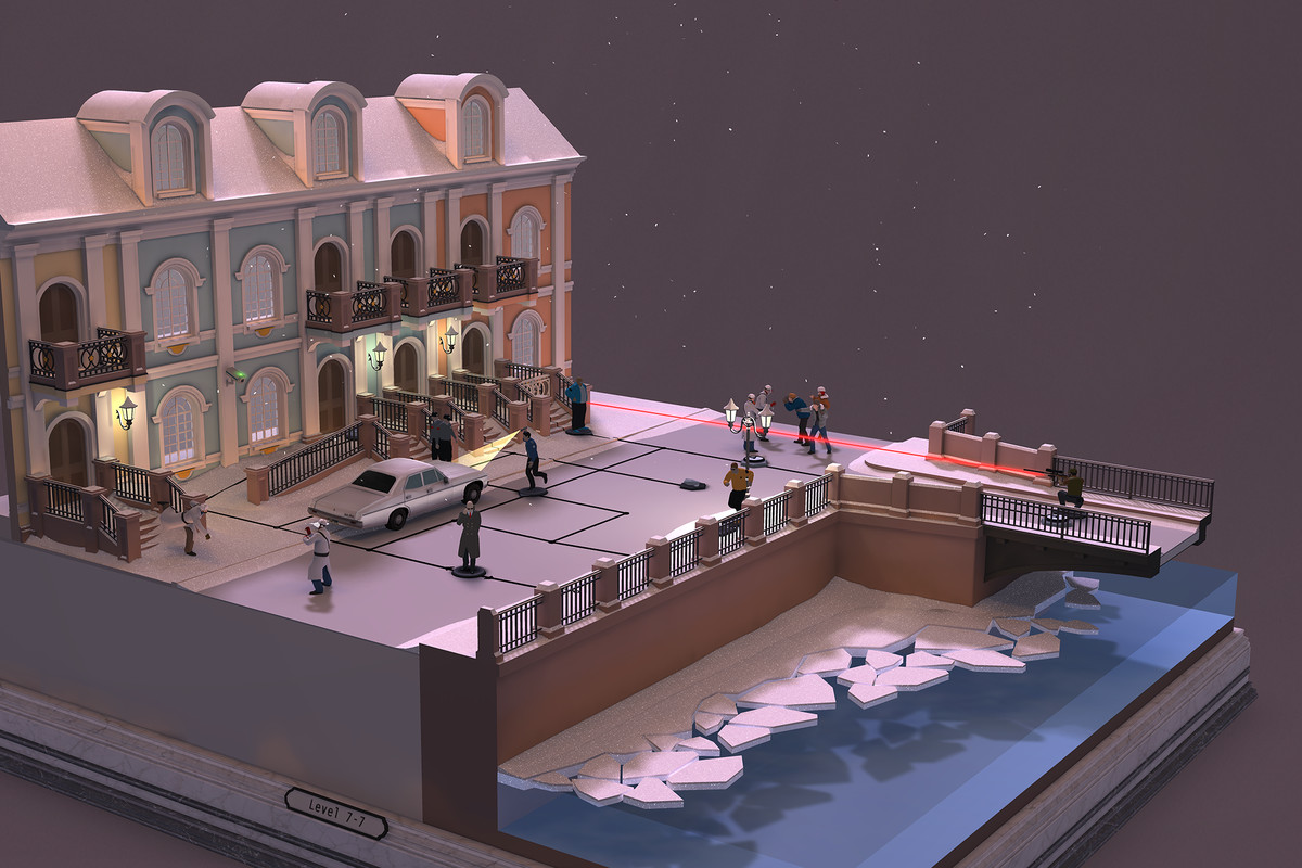 Hitman Go looks amazing on Gear VR, but it's exhausting