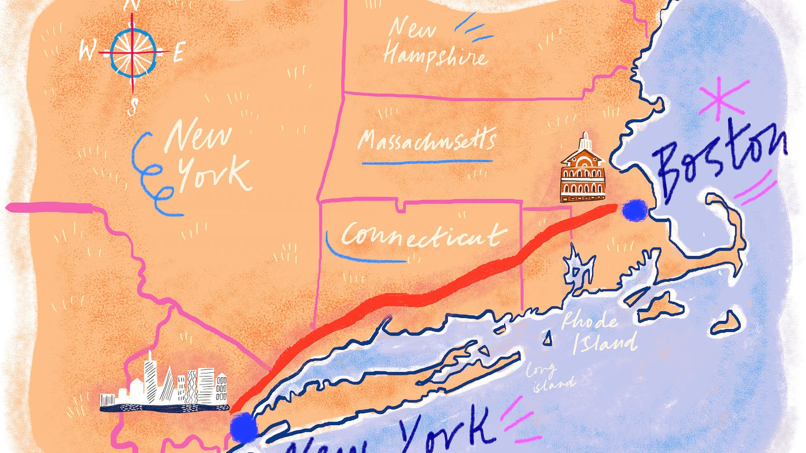 The  Best Places To Eat Along I Between Boston And NYC - Nyc map oasis