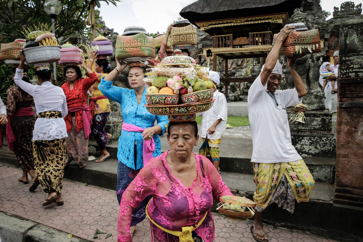 A Balinese festival.