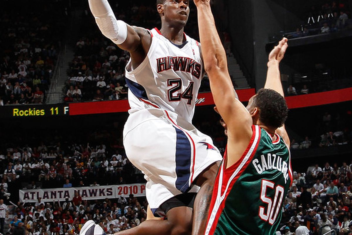 Marvin Williams moved one step closer today to returning to the Hawks lineup  (Photo by Kevin C. Cox/Getty Images)