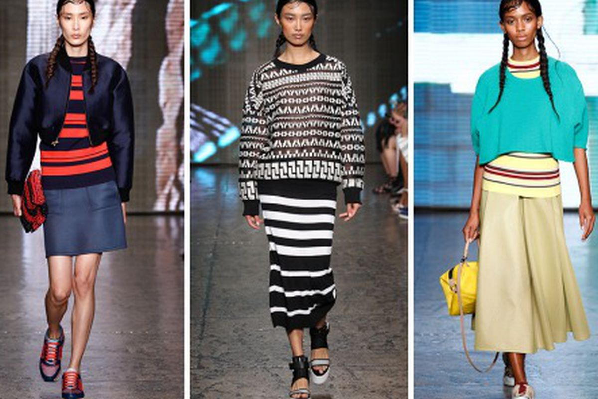 """Looks from the DKNY <a href=""""http://www.dkny.com/press/on-the-runway/#p=1"""">Spring 2015</a> runway show"""