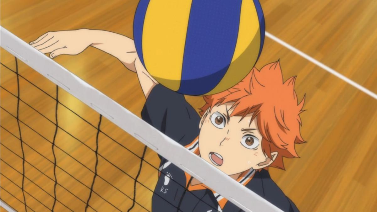hinata hitting a volleyball