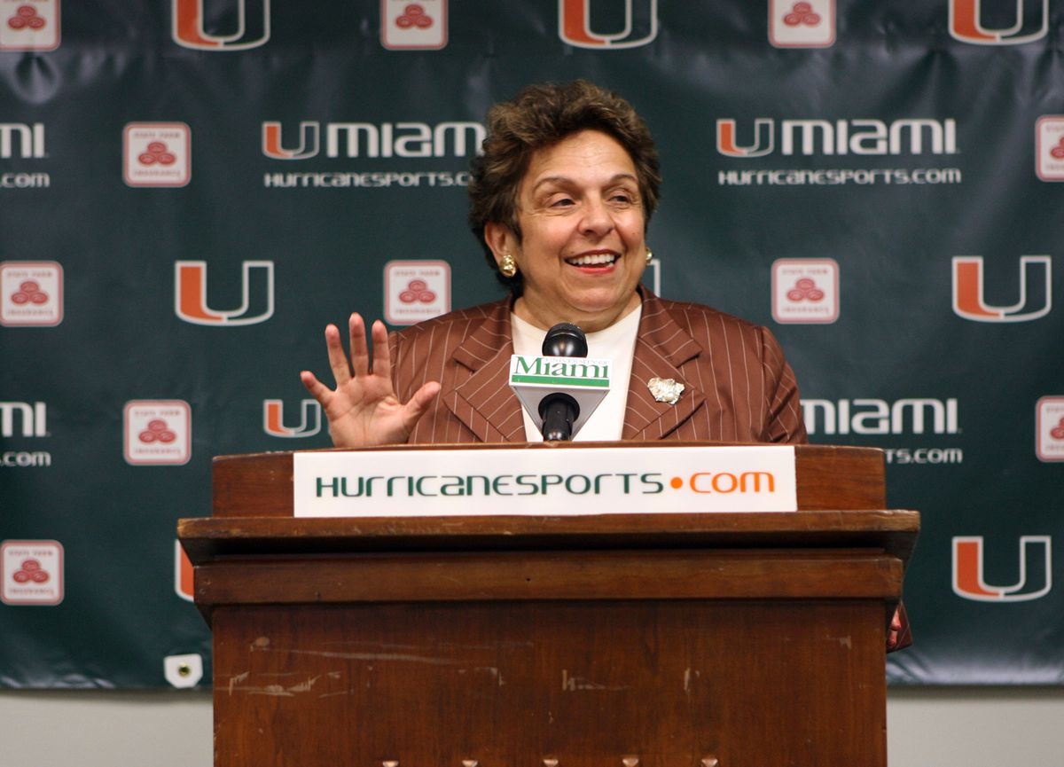 """"""" I did not want to do it,"""" said Donna Shalala, president of"""
