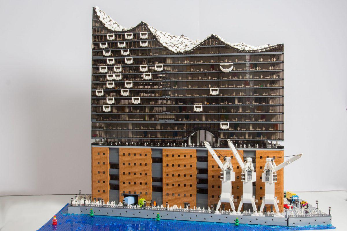 Lego replica of Hamburg's Elbphilarmonie