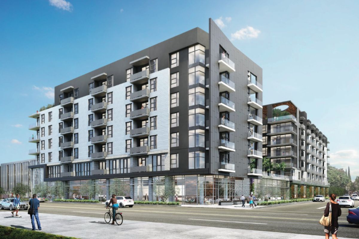 east hollywood apartment complex planned near western and sunset curbed la. Black Bedroom Furniture Sets. Home Design Ideas