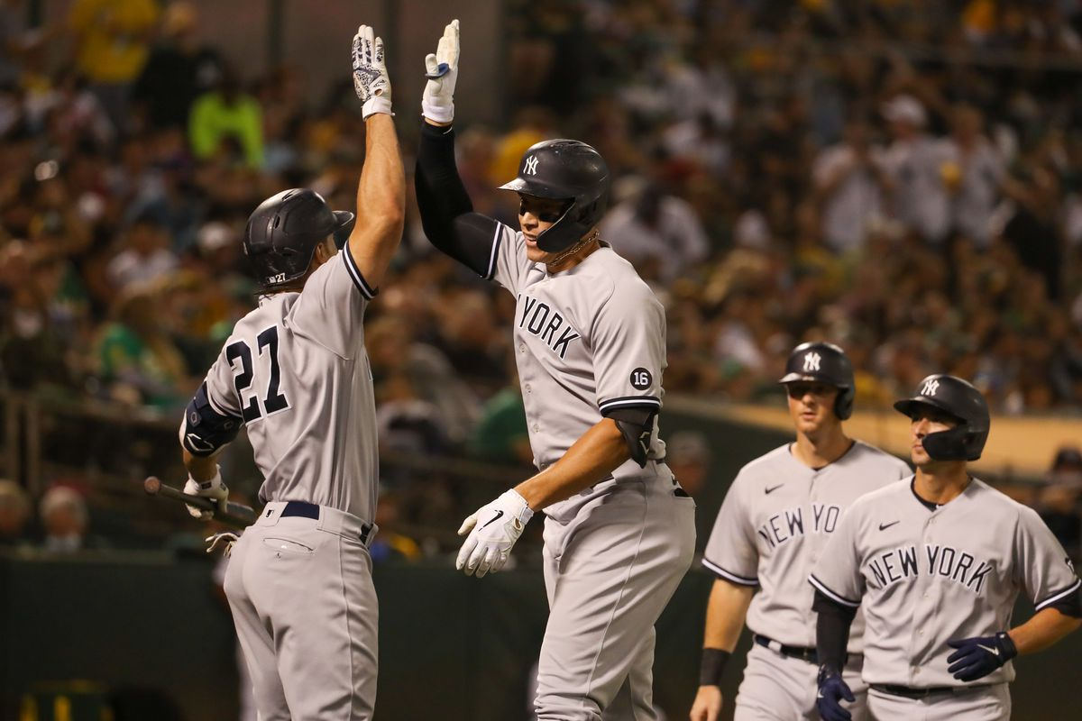 MLB: AUG 27 Yankees at Athletics