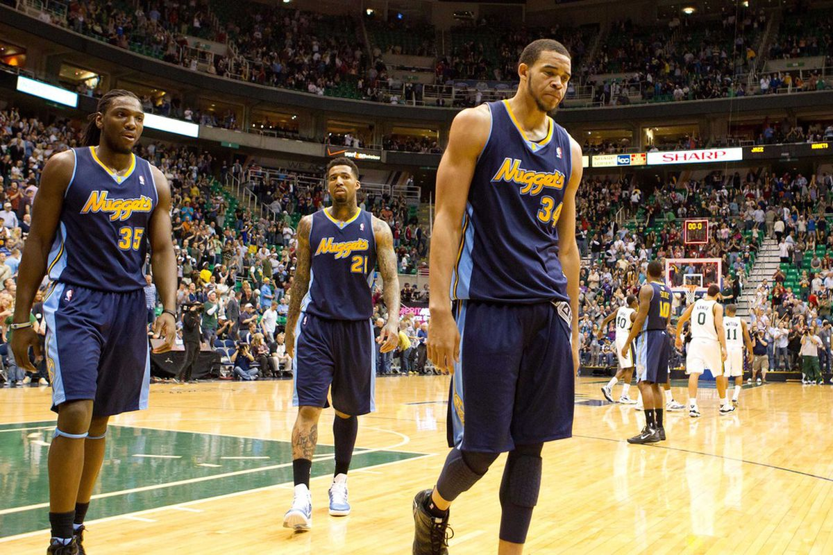 This picture of Kenneth Faried, Wilson Chandler and JaVale McGee isn't exactly inspiring.