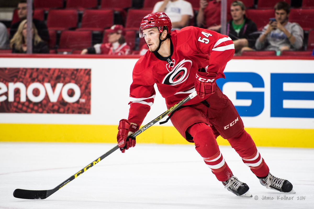 Brett Pesce was solid in preseason play. Will he make his NHL debut tonight?
