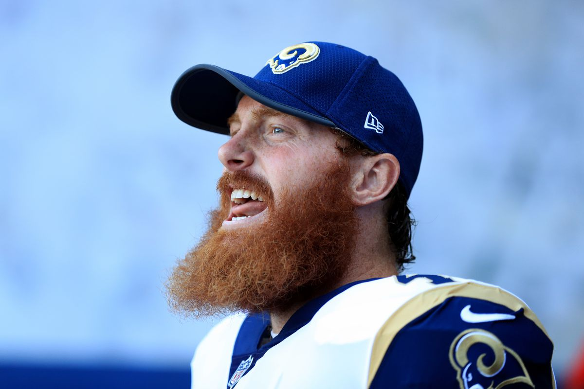Los Angeles Rams LS Jake McQuaide before a game against the Dallas Cowboys in Week 1 of the preseason, August 12, 2017.