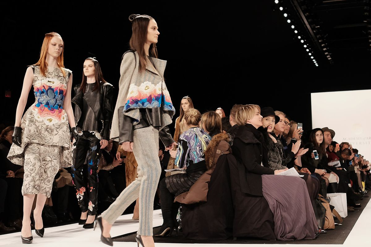 Paulina Romero's collection on the runway at NYFW. Photo: Getty
