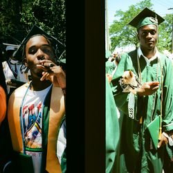 """""""These two struck me because they truly felt like they were celebrating their graduation: one with a cigar and the other with his dog."""""""