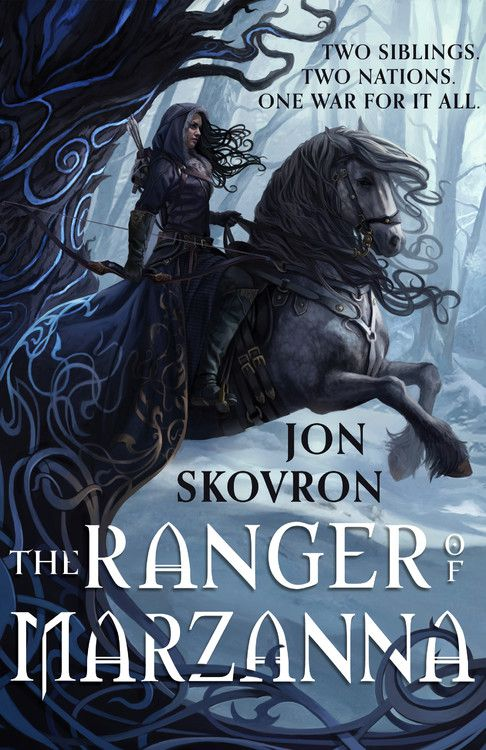a woman holding a bow and arrow rides a horse on the cover of ranger of marzanna