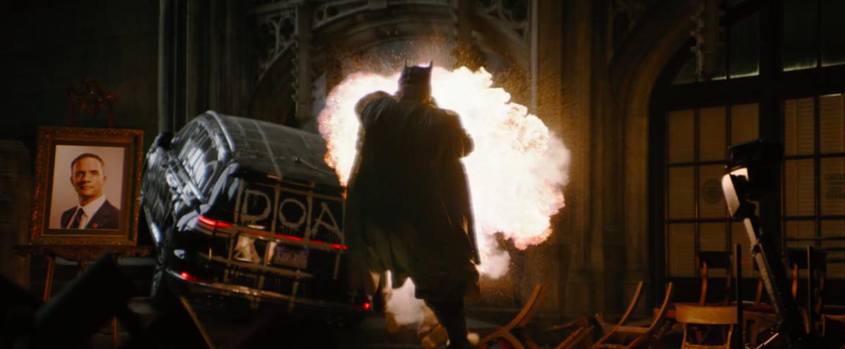 An explosion in a church in The Batman