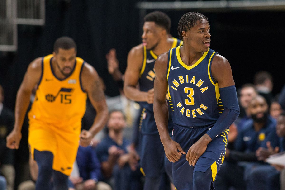618b43ce56a6 Pacers final score  Pacers come together to top Jazz 121-94 - Indy ...