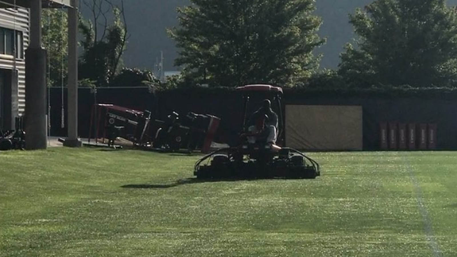 James Harrison does it all. Lifts thousands of pounds, sacks QBs and even cuts the grass