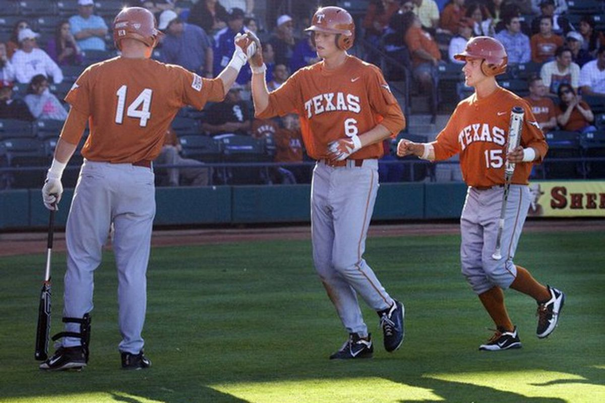 """Texas sophomore Erich Weiss (#6) was named Big XII Player of the Week. Photo via <a href=""""http://media.caller.com/media/img/photos/2011/04/05/420110405200807001_t607.JPG"""">media.caller.com</a>"""