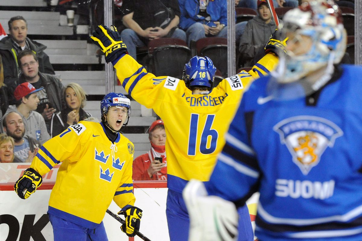 World Junior Hockey Championships 2013 Sweden Beat Latvia Russia