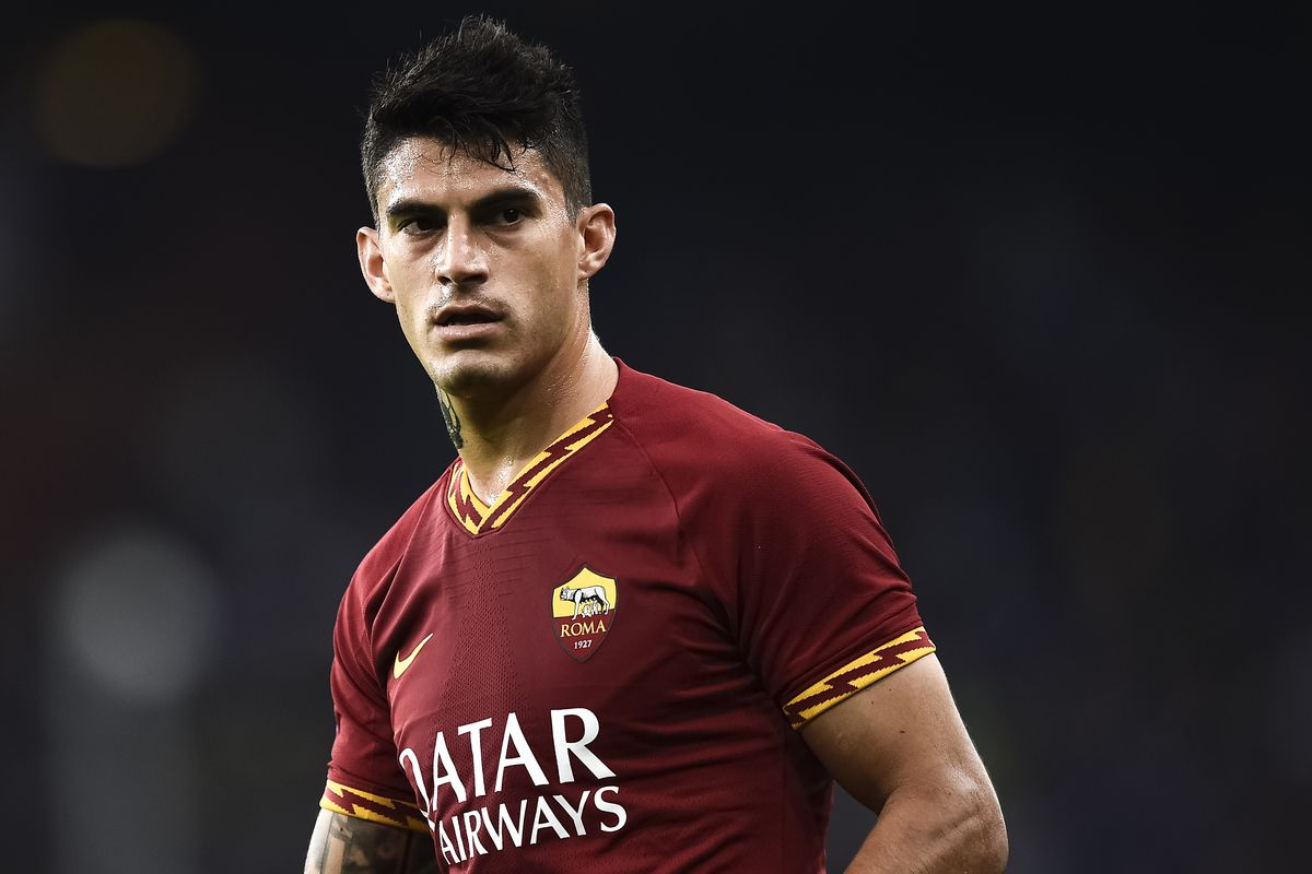 Diego Perotti of AS Roma looks on during the Serie A...