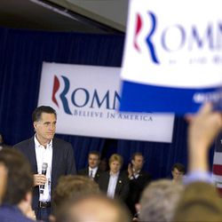 Republican presidential candidate, former Massachusetts Gov. Mitt Romney speaks during a campaign stop at the Farmers Market in Jackson, Miss., Friday, March 9, 2012.