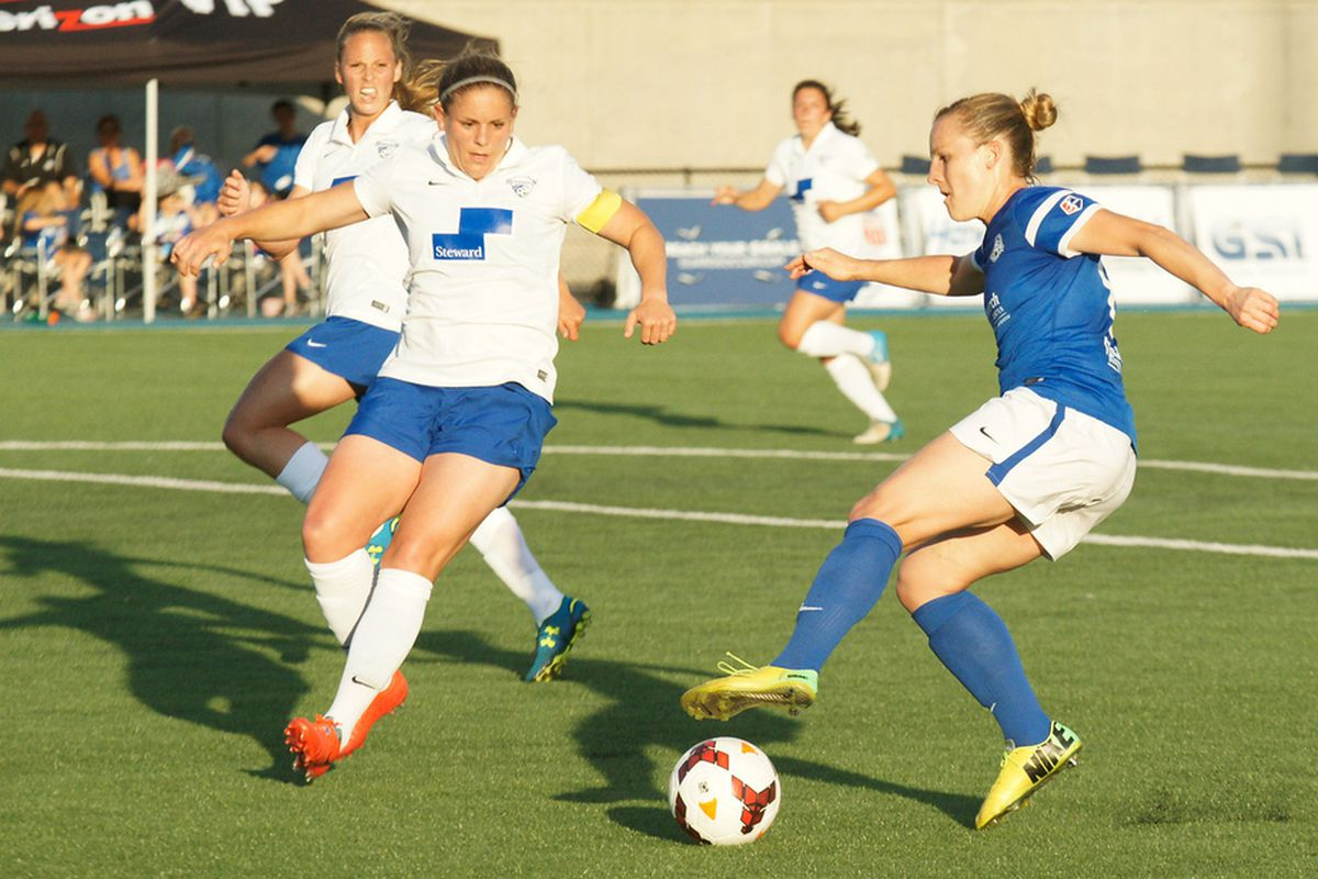 FC Kansas City's Amy Rodriguez is second in the league in goals