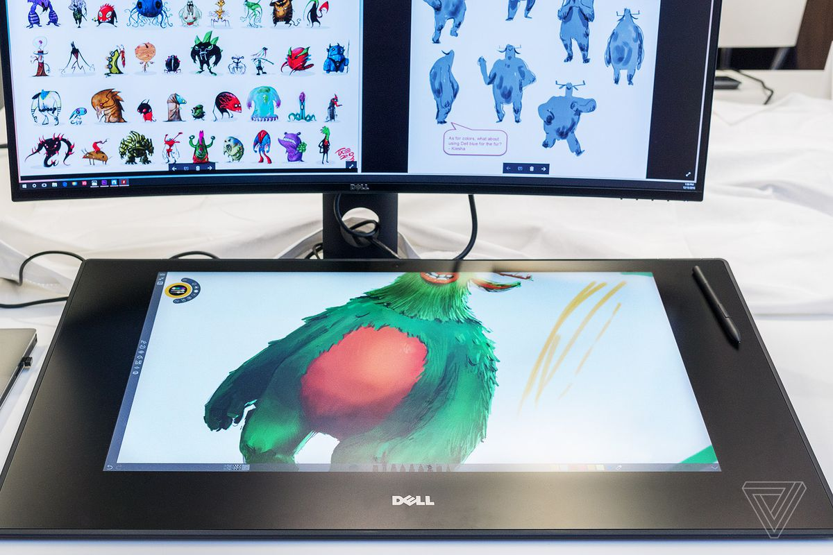 dell 39 s canvas is like a surface studio without the pc the verge. Black Bedroom Furniture Sets. Home Design Ideas