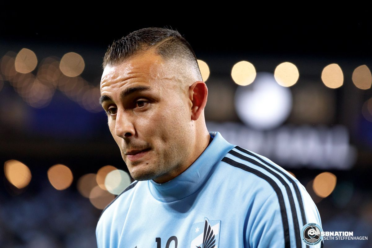 October 20, 2019 - Saint Paul, Minnesota, United States - Minnesota United midfielder Miguel Ibarra (10) walks over to the Wonderwall to bid farewell after the first round playoff loss to the LA Galaxy at Allianz Field.