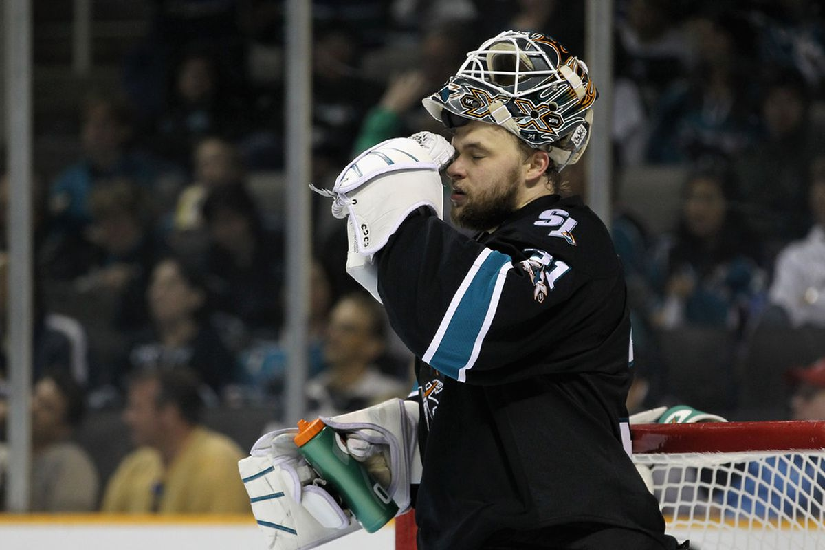 A key for the Sharks in game five will be Niemi keeping his helmet on and eyes open as much as possible.