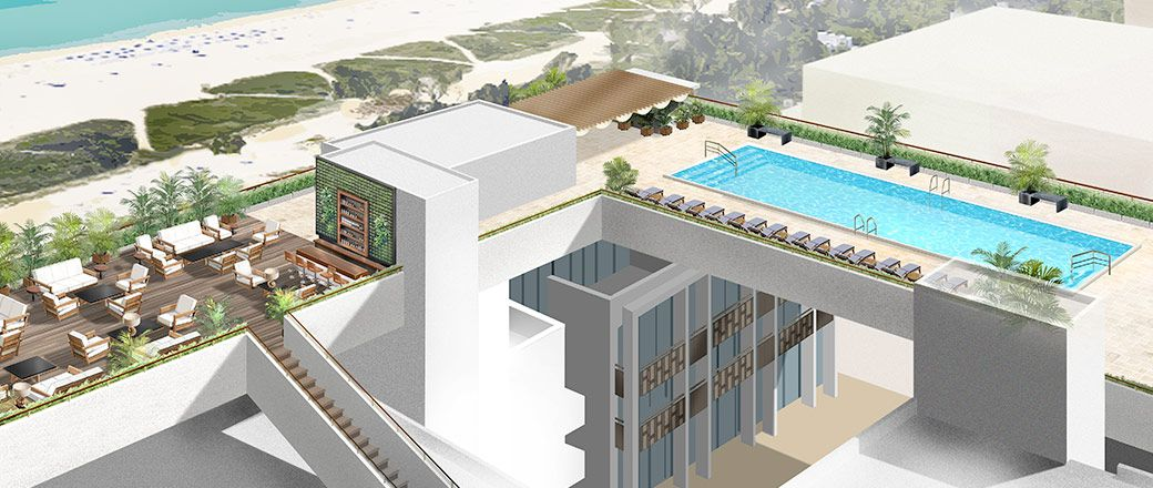 Rendering Of The Rooftop Pool Via Betsy South Beach