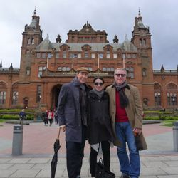 Visiting the Kelvingrove Art Museum in Glasgow.