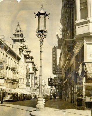 Street lamps installed for World's Fair, 1938.