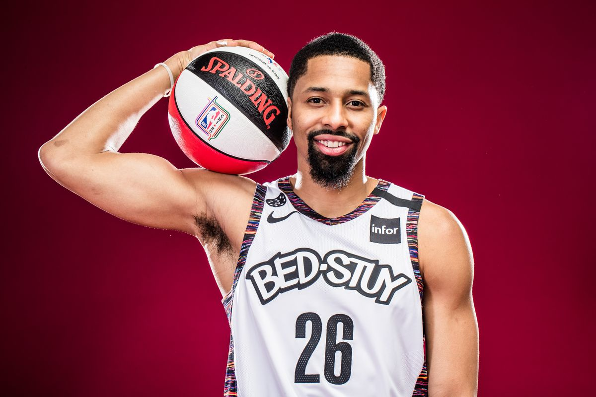 Spencer Dinwiddie of the Brooklyn Nets poses for a portrait during NBA All-Star Saturday Night Presented by State Farm as part of 2020 NBA All-Star Weekend on February 15, 2020 at United Center in Chicago, Illinois.