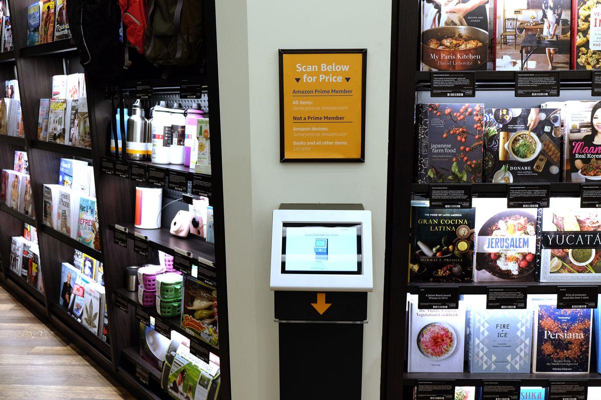 Amazon Books scan price barcode reader