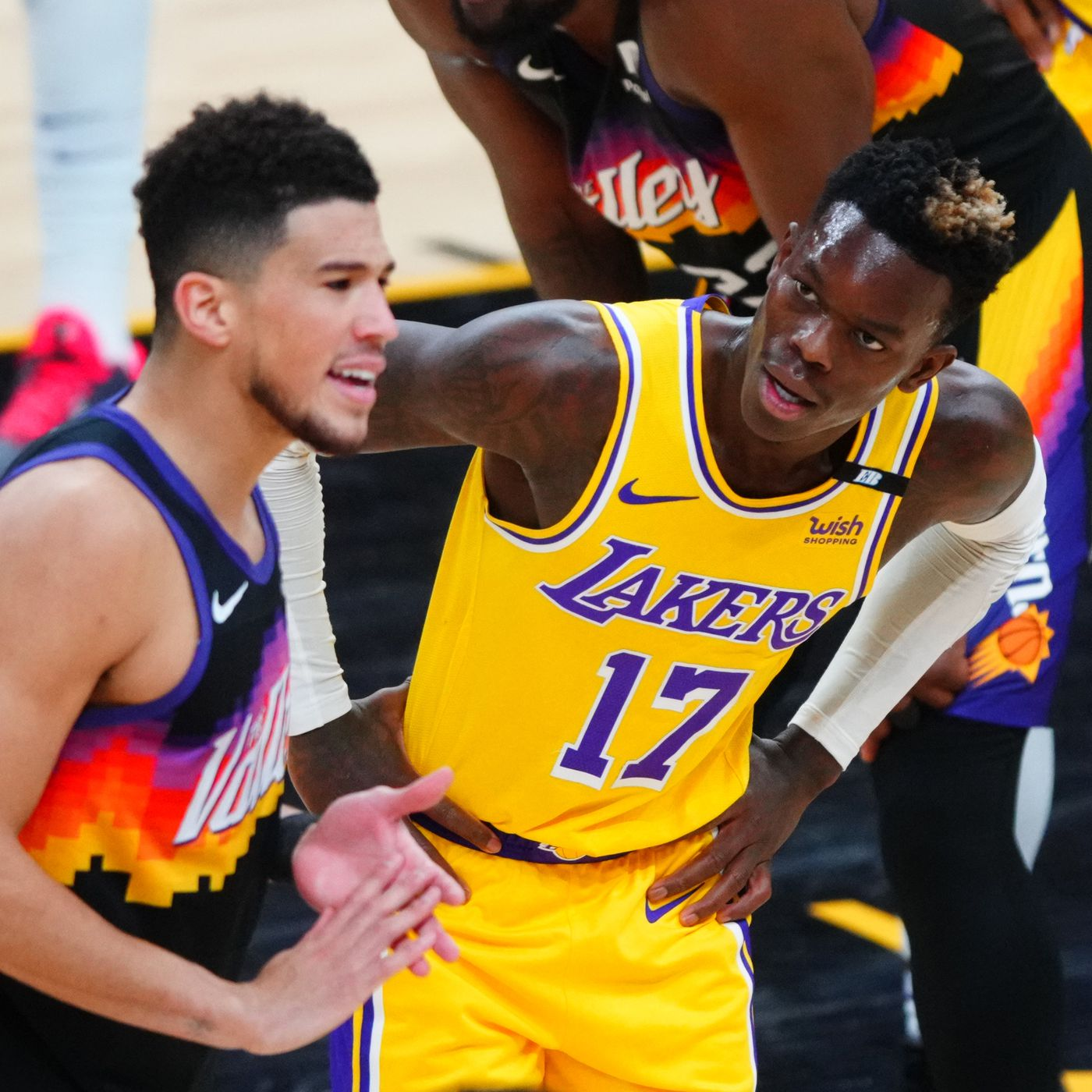 Dennis Schröder, Lakers unhappy with cheap shot from Devin Booker - Silver  Screen and Roll