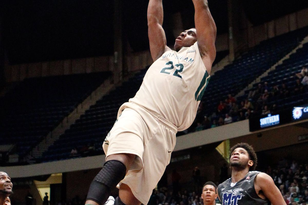 Tyler Madison helped UAB slam Middle Tennessee.