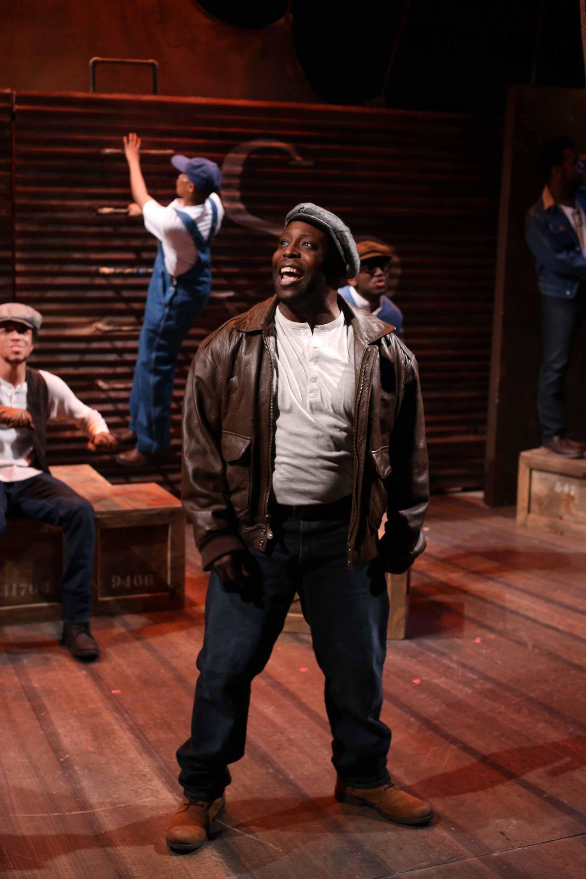 "James Earl Jones II stars as Haywood Patterson in the Porchlight Music Theatre production of ""The Scottsboro Boys."" (Photo: Kelsey Jorissen)"