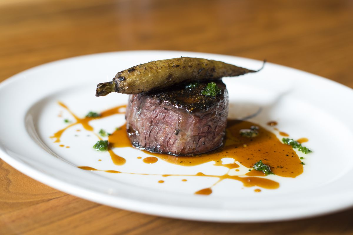 Filet with charred carrot