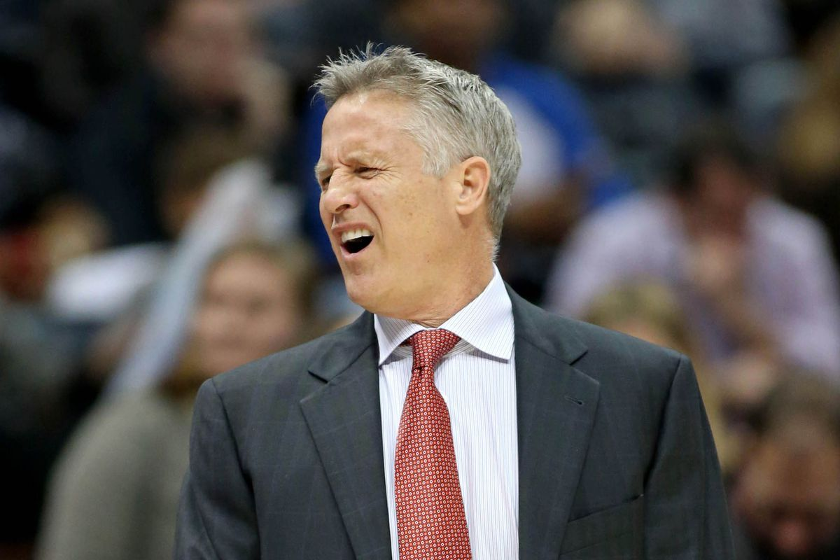 Even Brett Brown was upset at the news of the Brandon Davies trade.