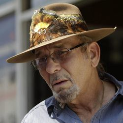 """Dan Ertel, owner of """"Lips"""" strip club, talks to the press outside a hotel in San Salvador, El Salvador, Friday, April 27, 2012.  The Secret Service acknowledged Thursday it is investigating whether its employees hired strippers and prostitutes in advance of President Barack Obama's visit last year to El Salvador. Ertel said he didn't know whether any Secret Service employees were among his customers."""