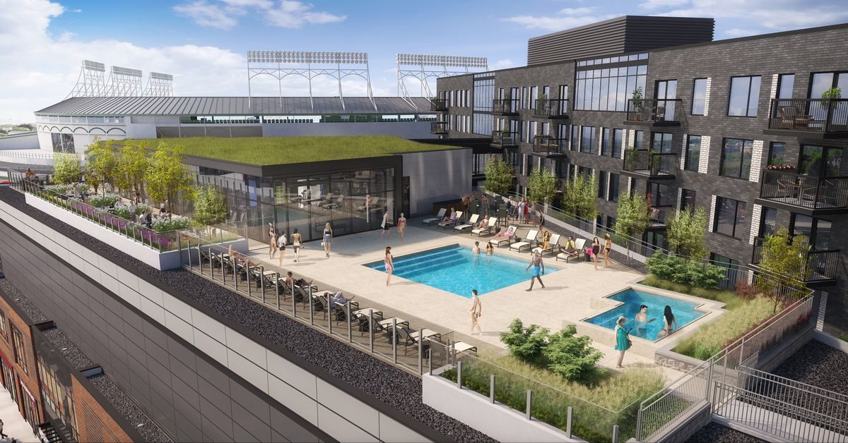 Rooftop Pool Next To Wrigley Field The Residences At