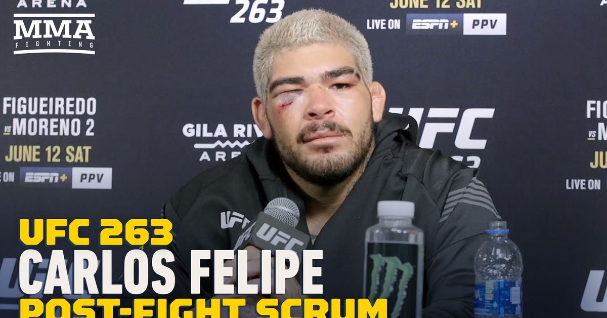 Video: Carlos Felipe calls for Andrei Arlovski after UFC 263 win, but still wants to punch Greg Hardy