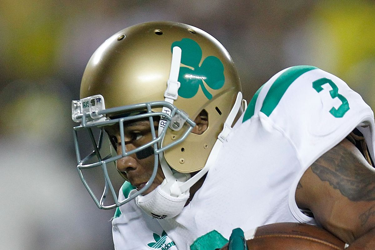 Notre Dame Football Why Are Shamrocks Stickers On The