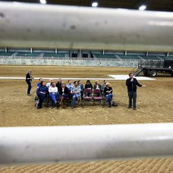 County officials answer questions during a town hall meeting at the Salt Lake County Equestrian Park in South Jordan, Monday, April 25, 2016.