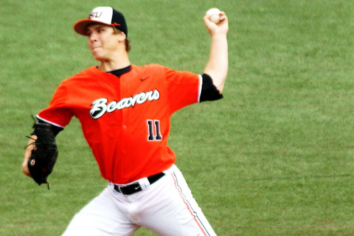 Pac-12 Pitcher of the Year Jace Fry will lead Oregon St. against UC-Irvine tonight.