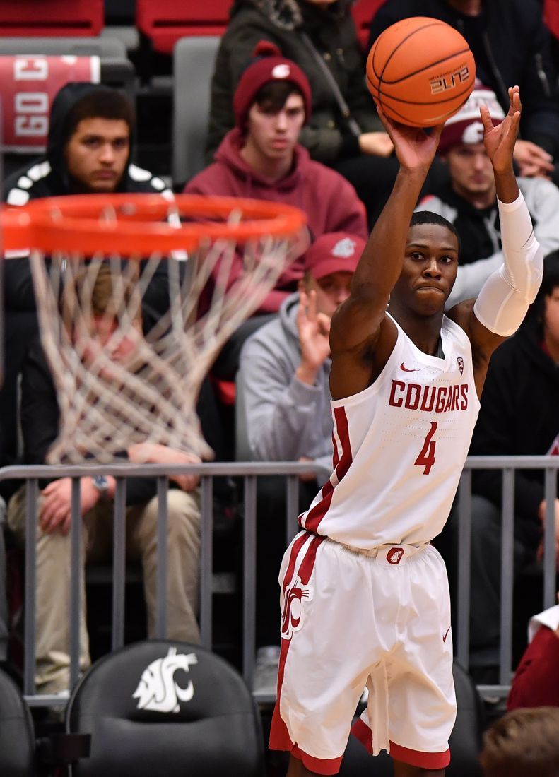 Washington State versus Saint Martin's during the second half of the Cougars 85-74 win over the Saints in a non-conference NCAA college exhibition basketball game Sunday, Nov. 5, 2017 at Beasely Coliseum in Pullman, Wash.