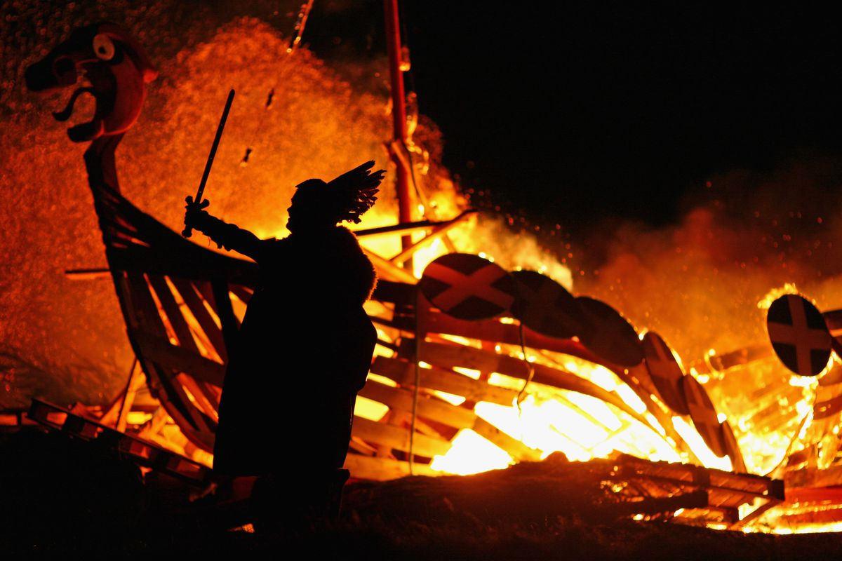 Hogmanay Kicks Off With A Torchlight Procession