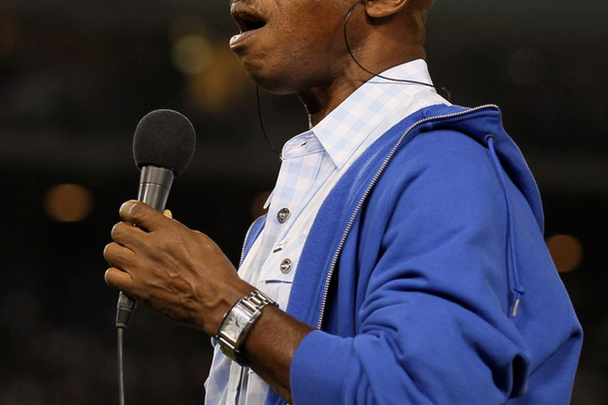 Jeffrey Osborne did not bring his patented Laker luck to the Ravine tonight. (Photo by Stephen Dunn/Getty Images)